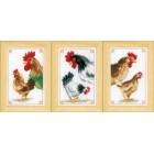 (OP=OP) Miniature kit Chickens set of 3