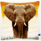 Cross stitch cushion kit Elephant in the savanna I