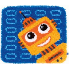 (OP=OP) Latch hook shaped rug kit Funny robot