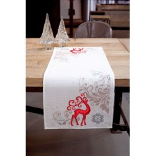 Aida table runner kit Proud deer