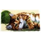 Latch hook rug kit Playful cat