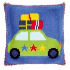 (OP=OP) Cross stitch cushion kit Holiday by car