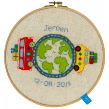 (OP=OP) Counted cross stitch kit Around the world