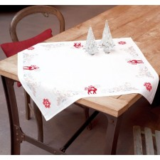 (OP=OP) Aida tablecloth kit Proud deer