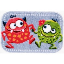 (OP=OP) Latch hook shaped rug kit Dancing monsters