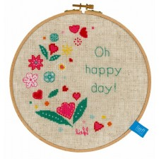 (OP=OP) Counted cross stitch kit Oh happy day