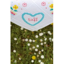 (OP=OP) Aida tablecloth kit Colourful flowers