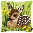 Cross stitch cushion kit Little deer