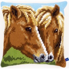 Cross stitch cushion kit Horses