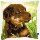 Cross stitch cushion kit Rottweiler puppy
