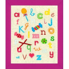 (OP=OP) Counted cross stitch kit Abc with sweets