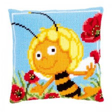 Cross stitch cushion kit MDB Maya in the poppies