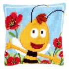 (OP=OP) Cross stitch cushion kit MDB Willy in the poppies