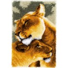 Latch hook rug kit Lion friendship III