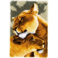 Latch hook rug kit Lion friendship III
