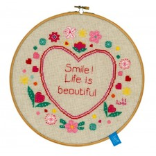 (OP=OP) Counted cross stitch kit Life is beautiful