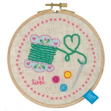 (OP=OP) Counted cross stitch kit Needle and thread