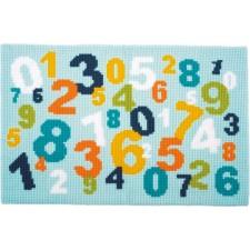 Kruissteek tapijtje Cijfers