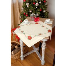 (OP=OP) Tablecloth kit Poinsettia and ribbons