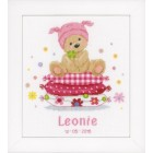 Counted cross stitch kit Bear on pillow