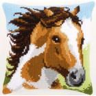 Cross stitch cushion kit Fiery stallion
