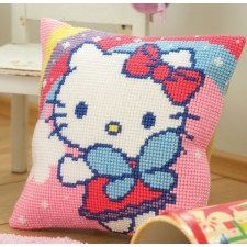 Cross stitch cushion kit Hello Kitty and rainbow