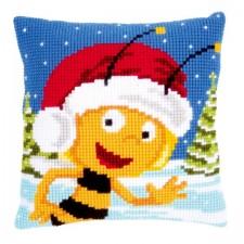 Cross stitch cushion kit MDB Maya in the snow