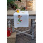 Table runner kit Chicken family