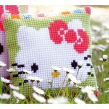 Cross stitch cushion kit Hello Kitty in pastel