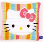 "(OP=OP) Long stitch cushion kit Hello Kitty ""Striped"""