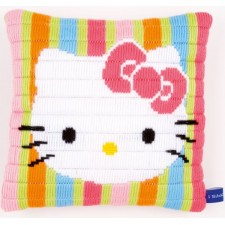 "(OP=OP) Long stitch cushion kit Hello Kitty ""Striped"""