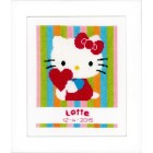 (OP=OP) Counted cross stitch kit Hello Kitty Striped