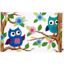 (OP=OP) Cross stitch rug kit Owl talk