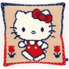 (OP=OP) Cross stitch cushion kit Hello Kitty on a walk