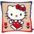 (OP=OP) Cross stitch cushion kit Hello Kitty on a walk