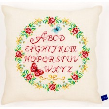 (OP=OP) Counted cross stitch cushion kit Alphabet&roses