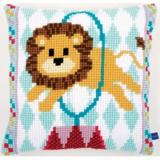 (OP=OP) Cross stitch cushion kit Circus lion