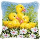 Latch hook cushion kit Ducks