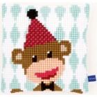 (OP=OP) Cross stitch cushion kit Circus monkey I