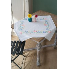 Tablecloth kit Pink and blue flowers