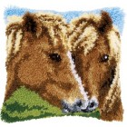 Latch hook cushion kit Horses