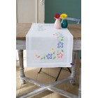 Table runner kit Pink and blue flowers