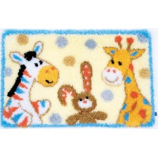 Latch hook rug kit Furry friends