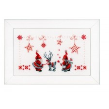 Counted cross stitch kit Christmas elves