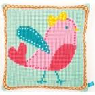 (OP=OP) Cross stitch cushion kit Pink birds