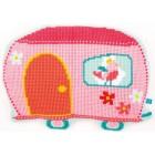 (OP=OP) Cross stitch shaped cushion kit Caravan