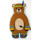 (OP=OP) Cross stitch shaped cushion kit Indian bear