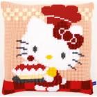 (OP=OP) Cross stitch cushion kit Hello Kitty Pie baking I