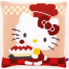 (OP=OP) Cross stitch cushion kit Hello Kitty Pie baking I