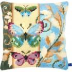 Cross stitch cushion kit Deco butterflies